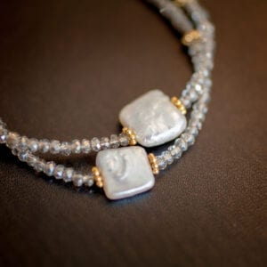 Beaded Bracelet with Pearl